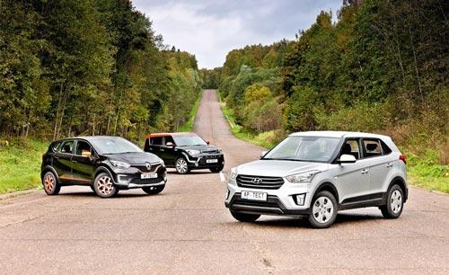 Выбираем между Hyundai Creta, Renault Kaptur и Kia Soul. Сравнительный тест-драйв